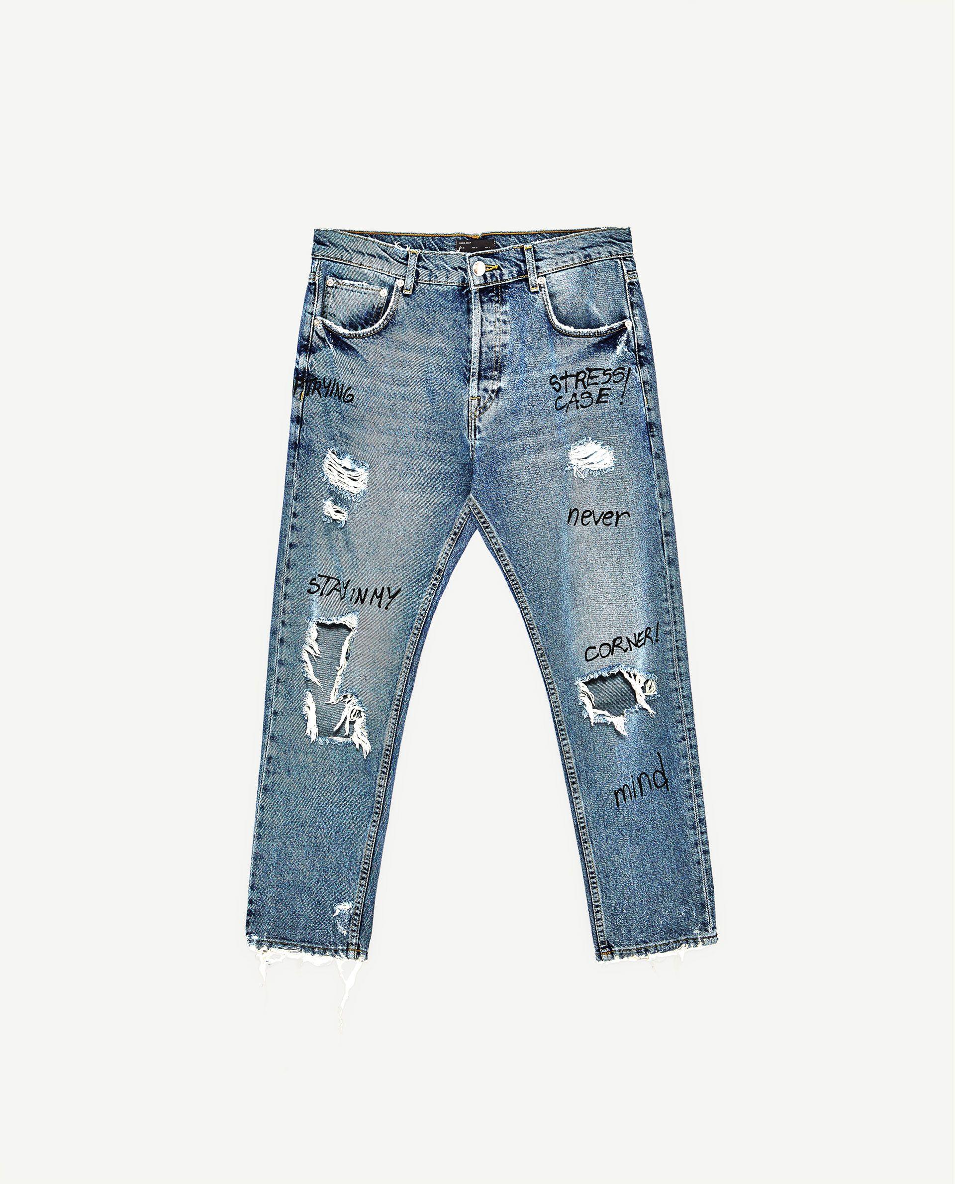 8b3bd8c51b Imagen 6 de DENIM SLIM FIT de Zara | Pants and shorts in 2019 ...