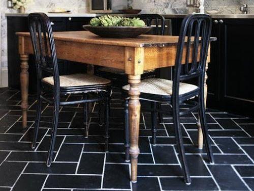 kitchen black tile floor- universalcouncil