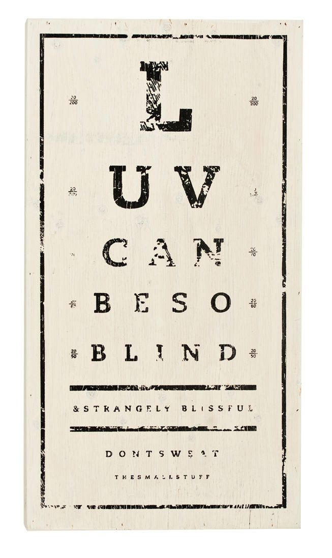 Love Can Be So Blind Eye Chart Panel Pillow Home Pinterest