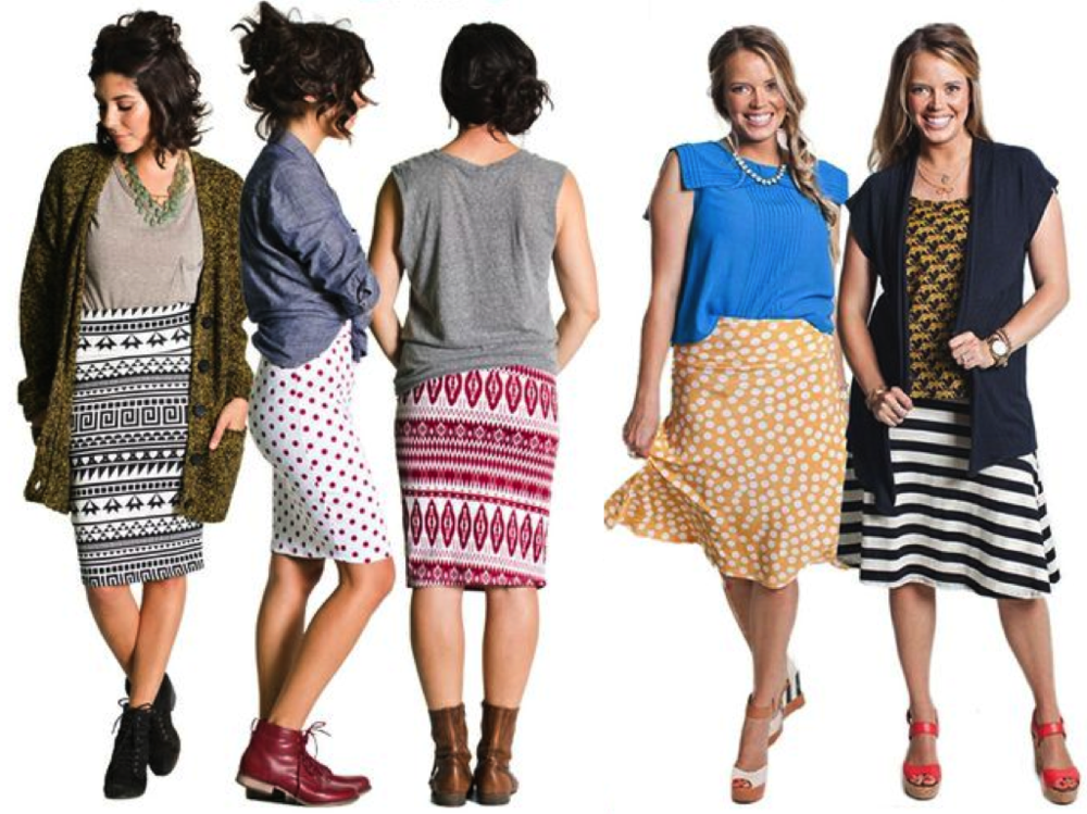 LuLaRoe - the Cassie pencil skirt and the Azure a-line skirt ...