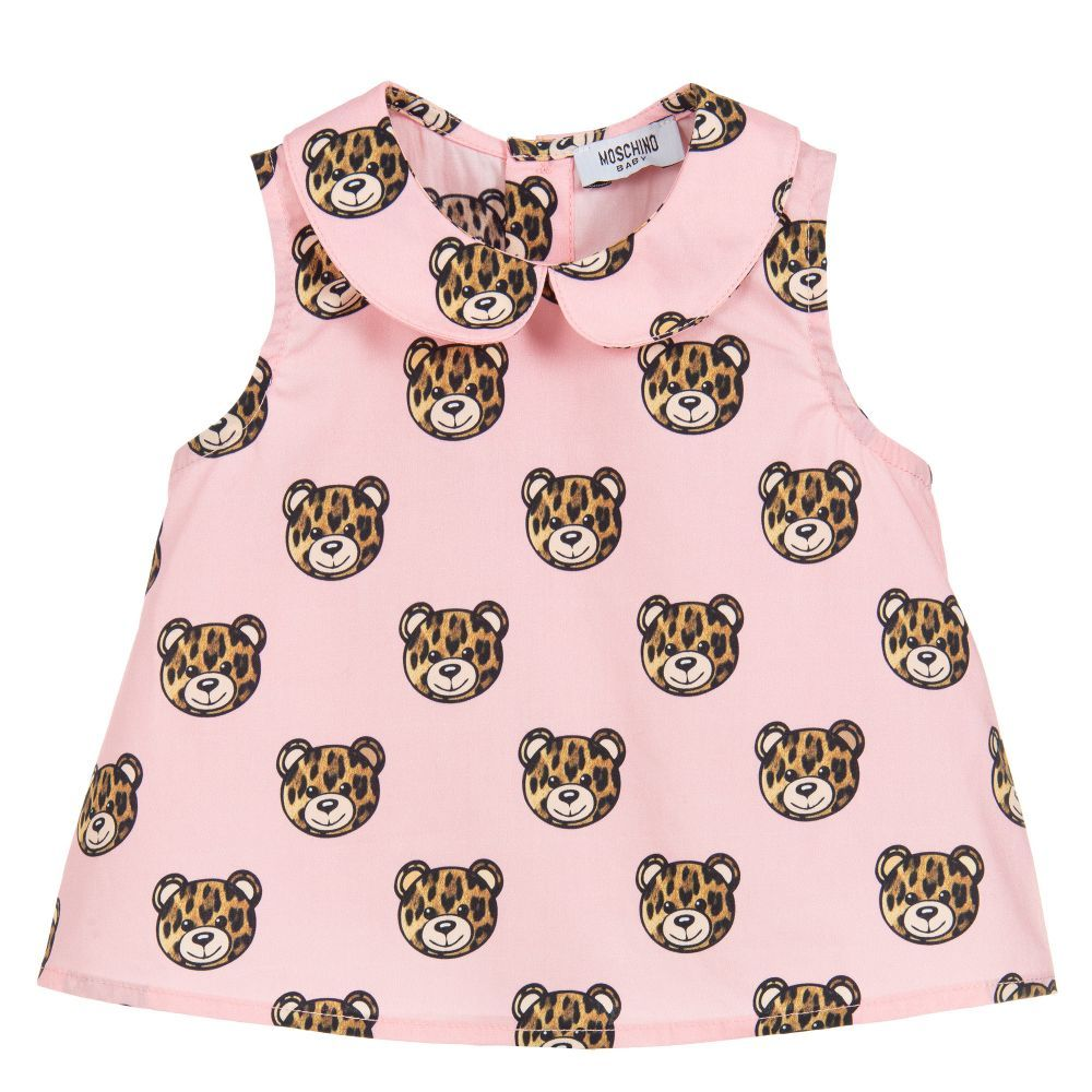 Moschino Kids Girls Toy Bear Leopard Tee Little Kids//Big Kids