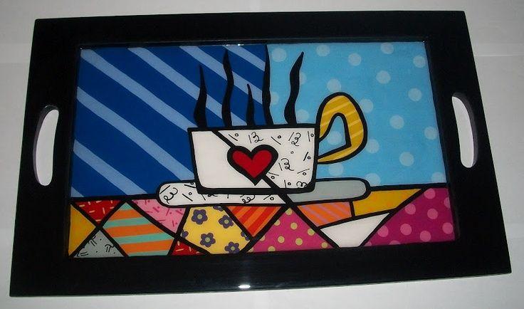 Resultado De Imagen Para Pintar Bandejas De Desayuno Decoupage