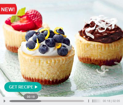 Philadelphia Mini Cheesecakes Recipe Kraft Recipes Mini Cheesecakes Mini Cheesecake Recipes Philadelphia Mini Cheesecakes