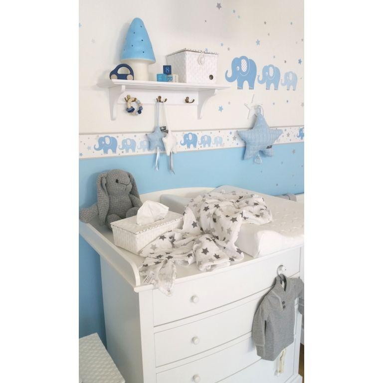 kinderzimmer bord re elefanten blau grau selbstklebend in 2019 kinderzimmer bord re. Black Bedroom Furniture Sets. Home Design Ideas