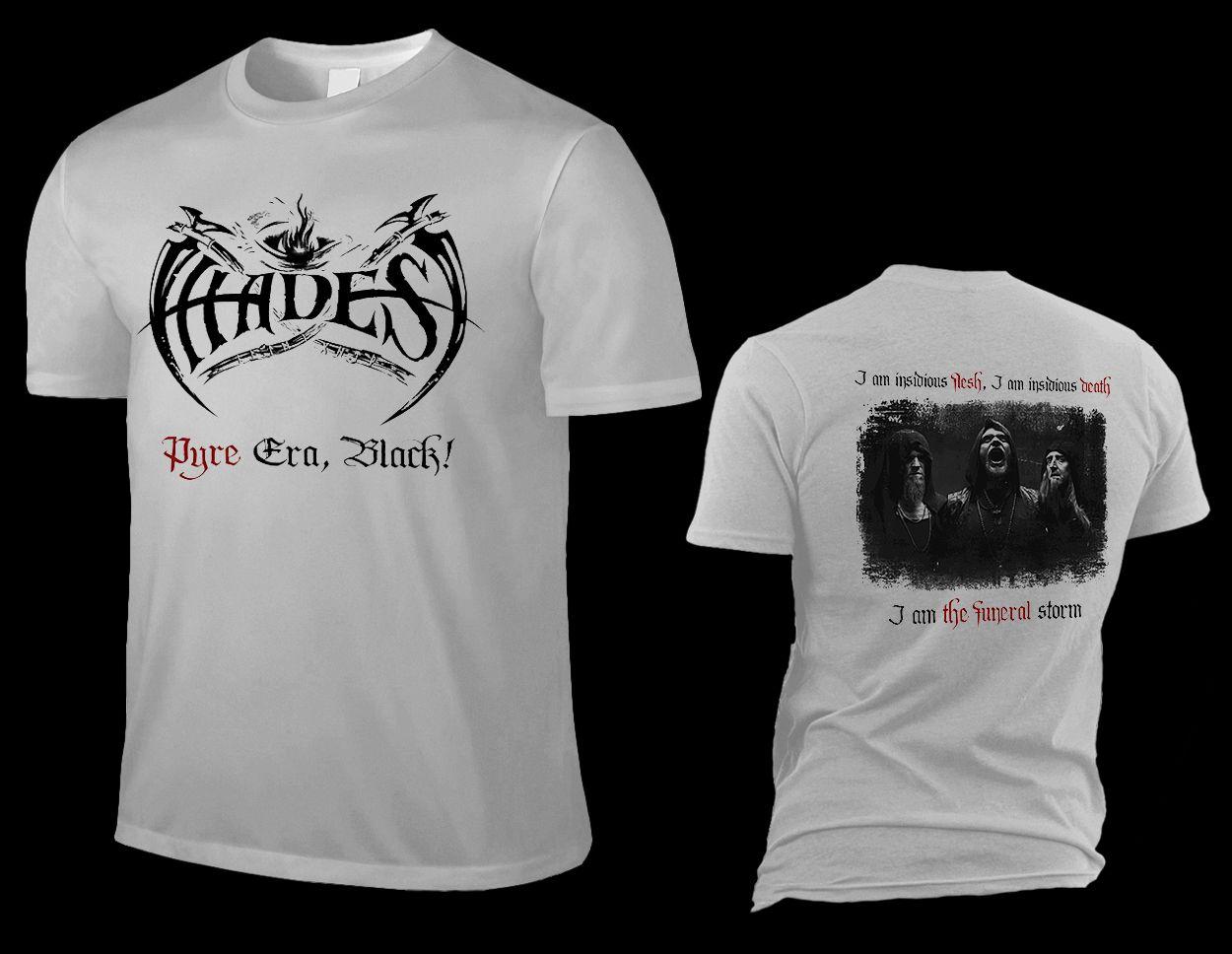 "HADES ALMIGHTY ""pyre era, black!"", silver grey T-Shirt"
