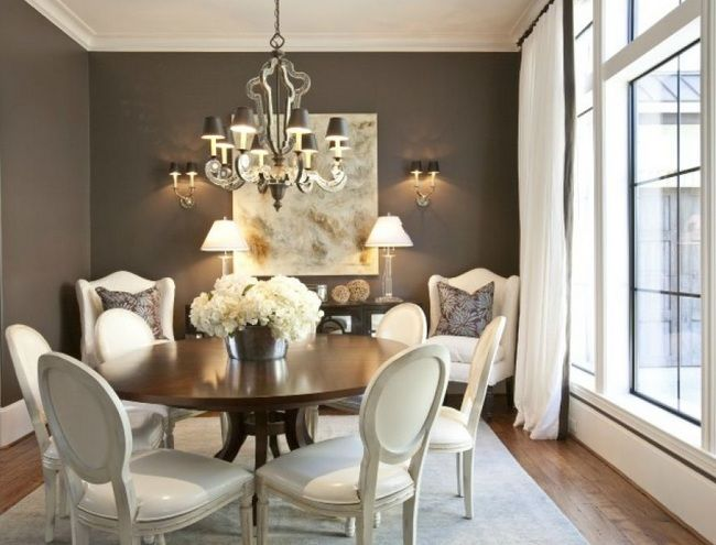 French Provincial Dining Room Furniture With White Painted Dining Chairs |  Decolover.net