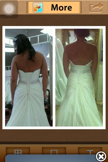 Fixing Wedding Dress Back Skin