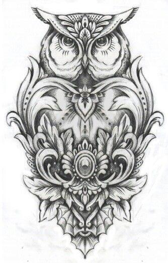 татуировкасочи #татуажсочи #никитапалагин Сова эскиз | pretty things ...