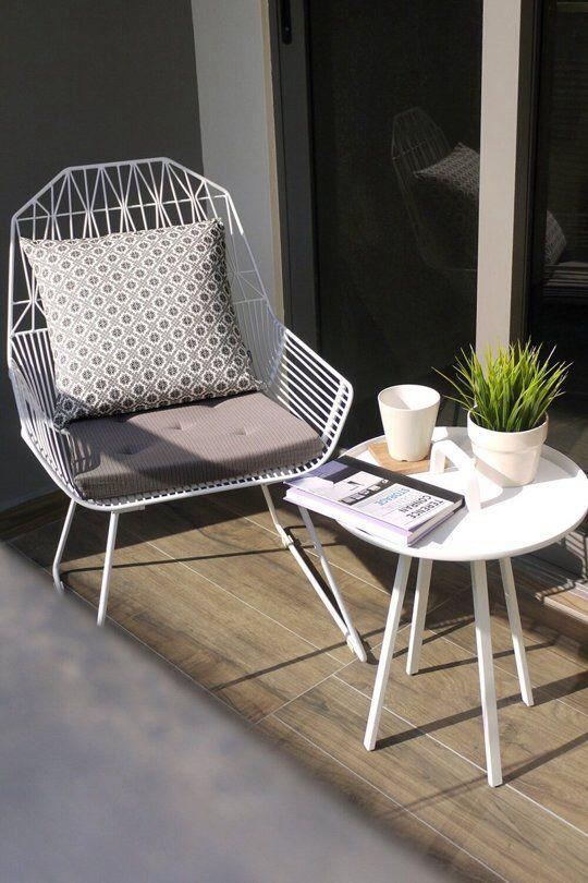 Modern Outdoor Chair Small Patio Furniture Balcony Furniture Balcony Decor