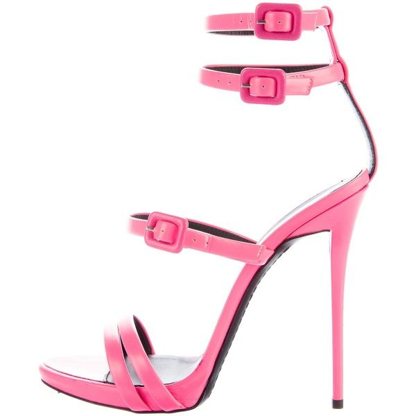 8fe2ecef1a2 Pre-owned Giuseppe Zanotti Neon Leather Sandals ( 225) ❤ liked on Polyvore  featuring