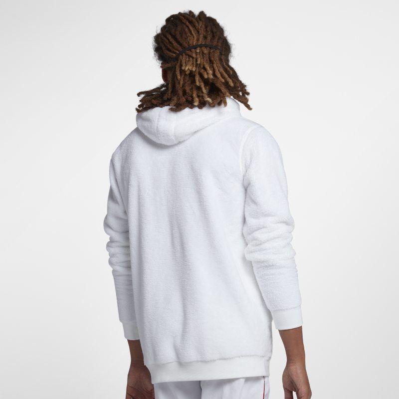 2282139fc9d9 Jordan Sportswear Wings of Flight Men s Sherpa Pullover Hoodie - White