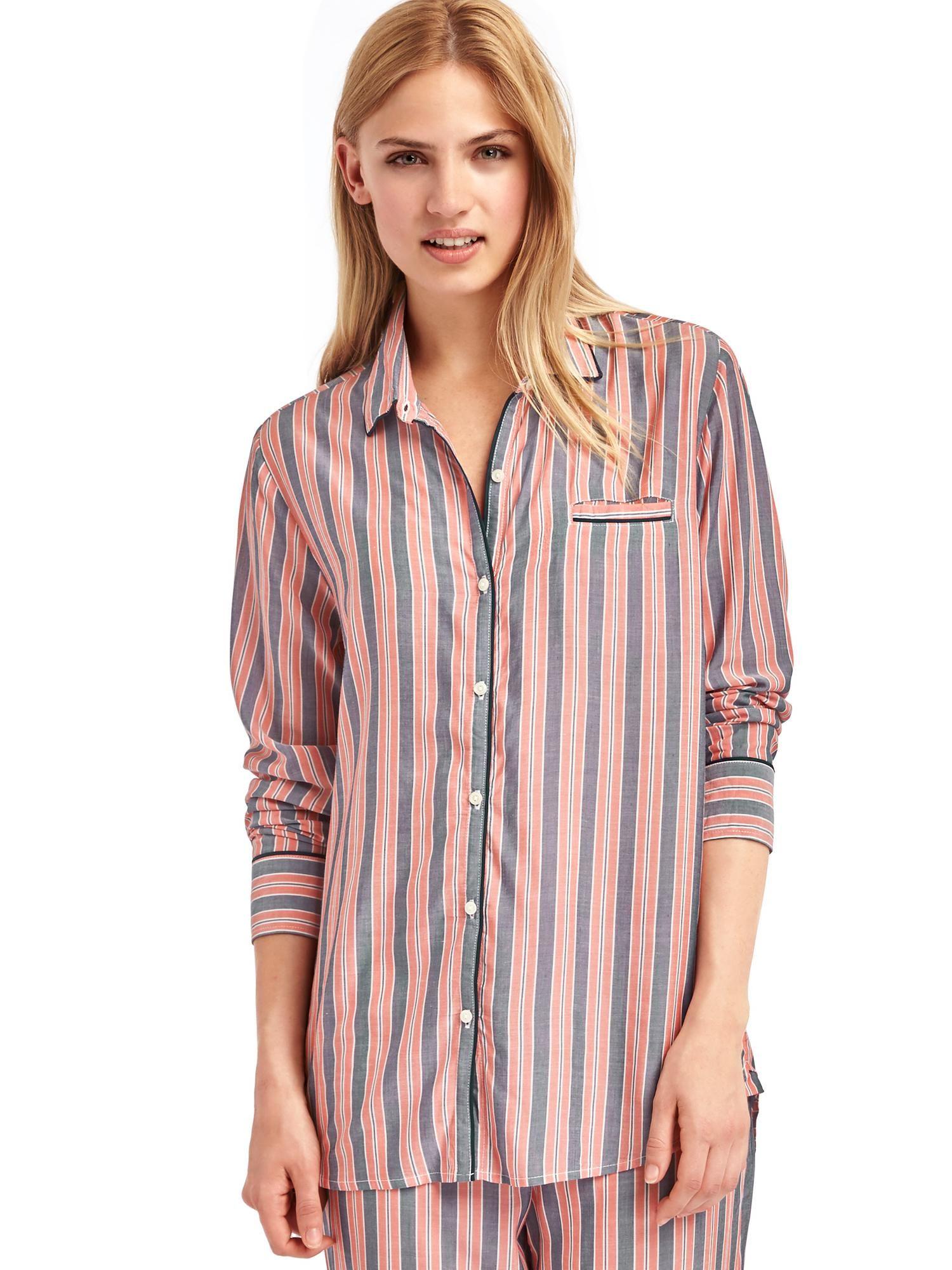 Piping long sleeve sleep shirt | Gap | Clothing Pieces | Pinterest
