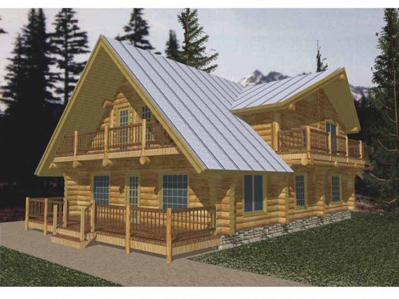Log Style House Plan 2 Beds 2 Baths 3108 Sq Ft Plan 117 127 Log Cabin House Plans Cabin House Plans Rustic House Plans