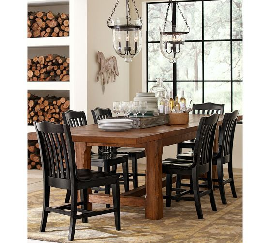 Black Dining Room Table Pottery Barn