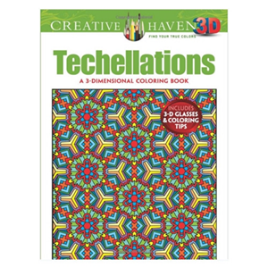 3D Techellations Adult Coloring Book. Unique office toys, supplies, and products at www.officeplayground.com use code P10 for 10% off
