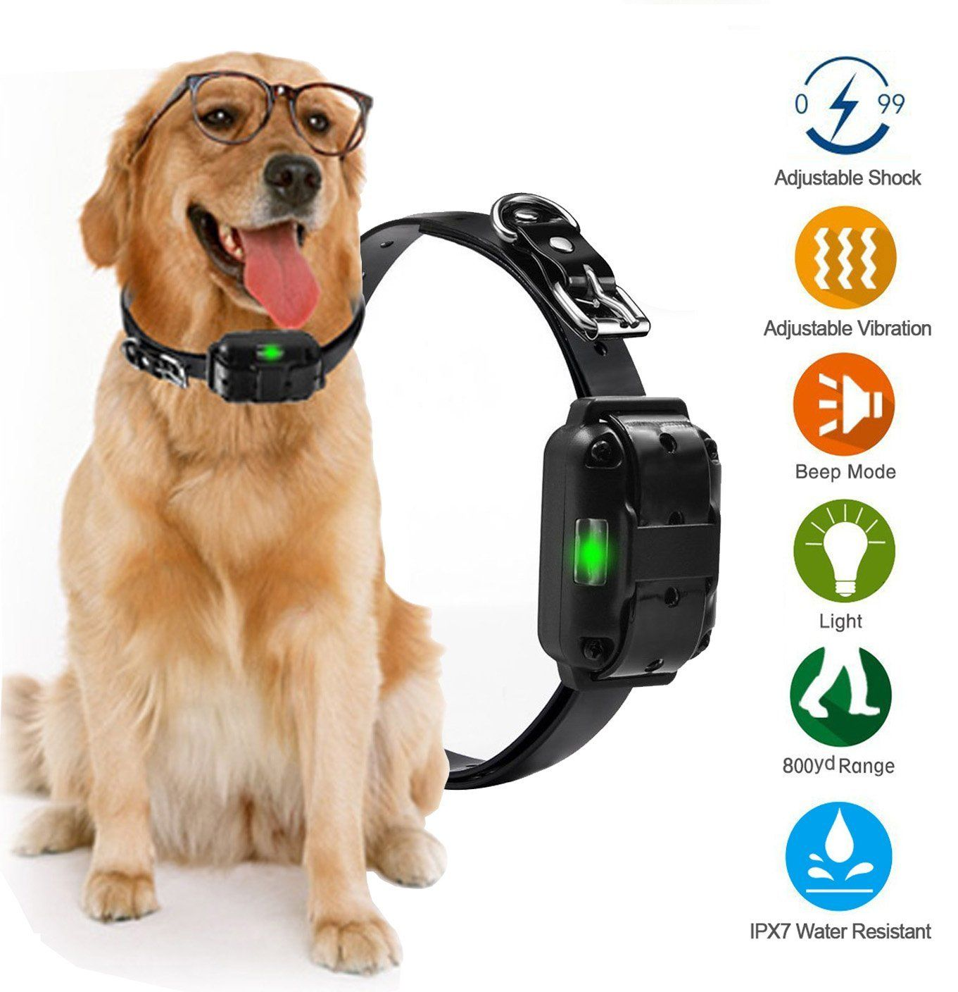 Additional Receiver Collar For Yipet Remote Dog Training Collar