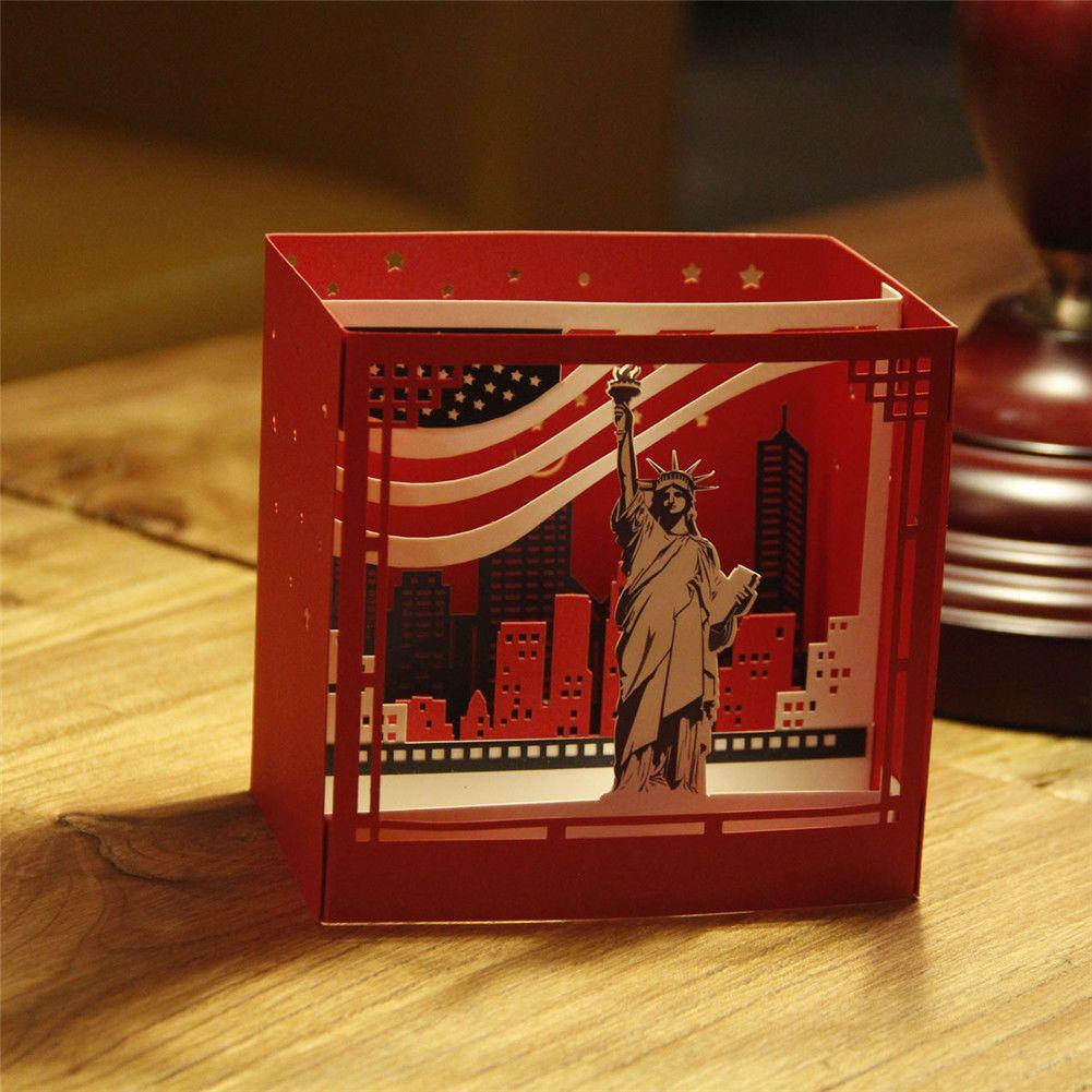 3d Greeting Card Handmade New York Birthday Valentine Gift
