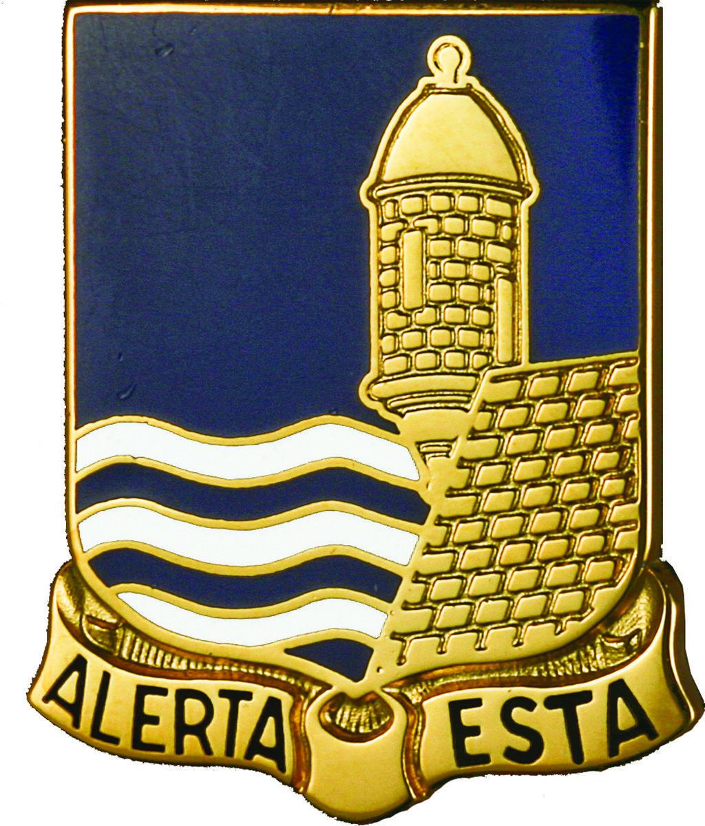 296th Infantry Unit Crest (Alerta Esta)