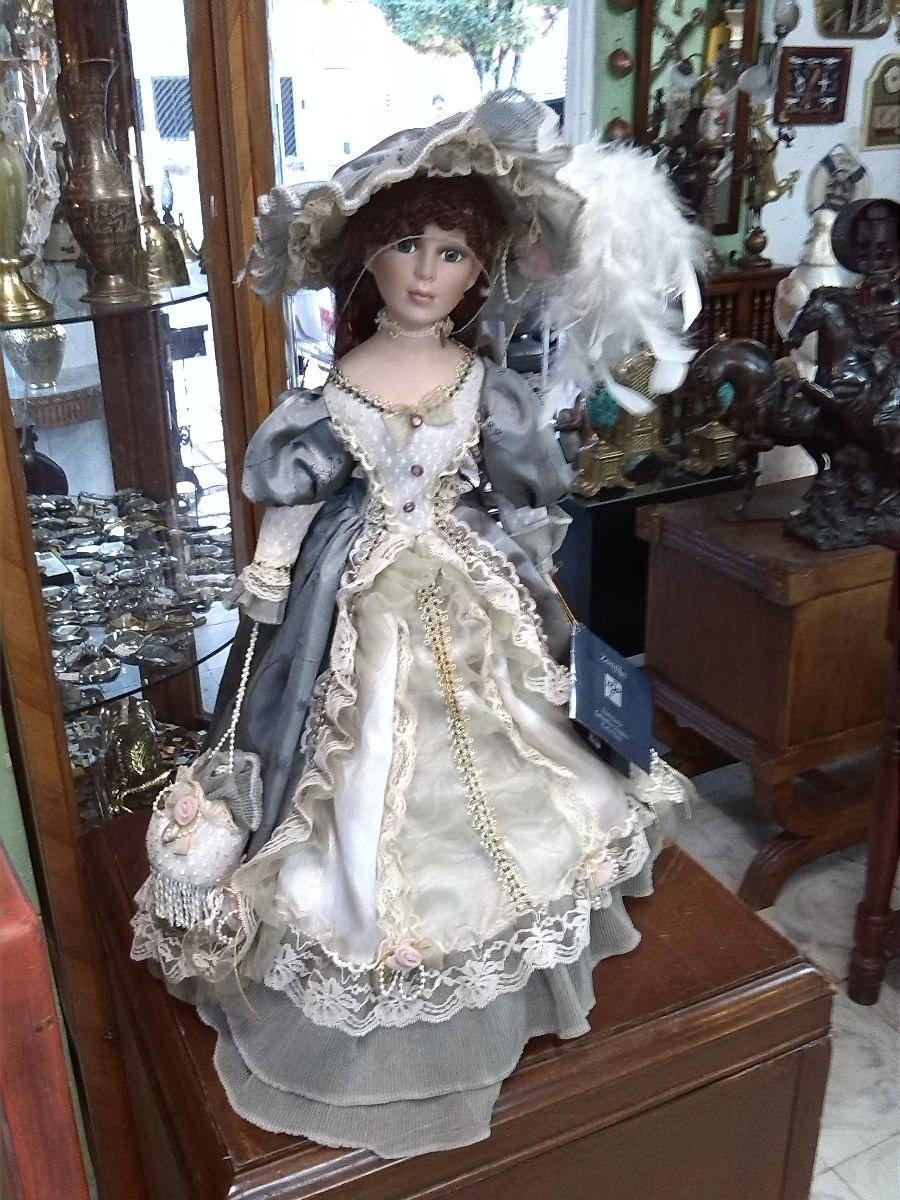mueca antigua de coleccin italiana con porcelana