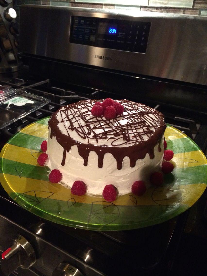Raspberry cake and chocolate