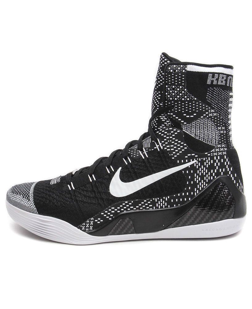 the latest fe0b0 e0de7 Nike Kobe 9 IX Elite BHM Black History Month 704304-010 (Black White) Size  10  Nike  Athletic