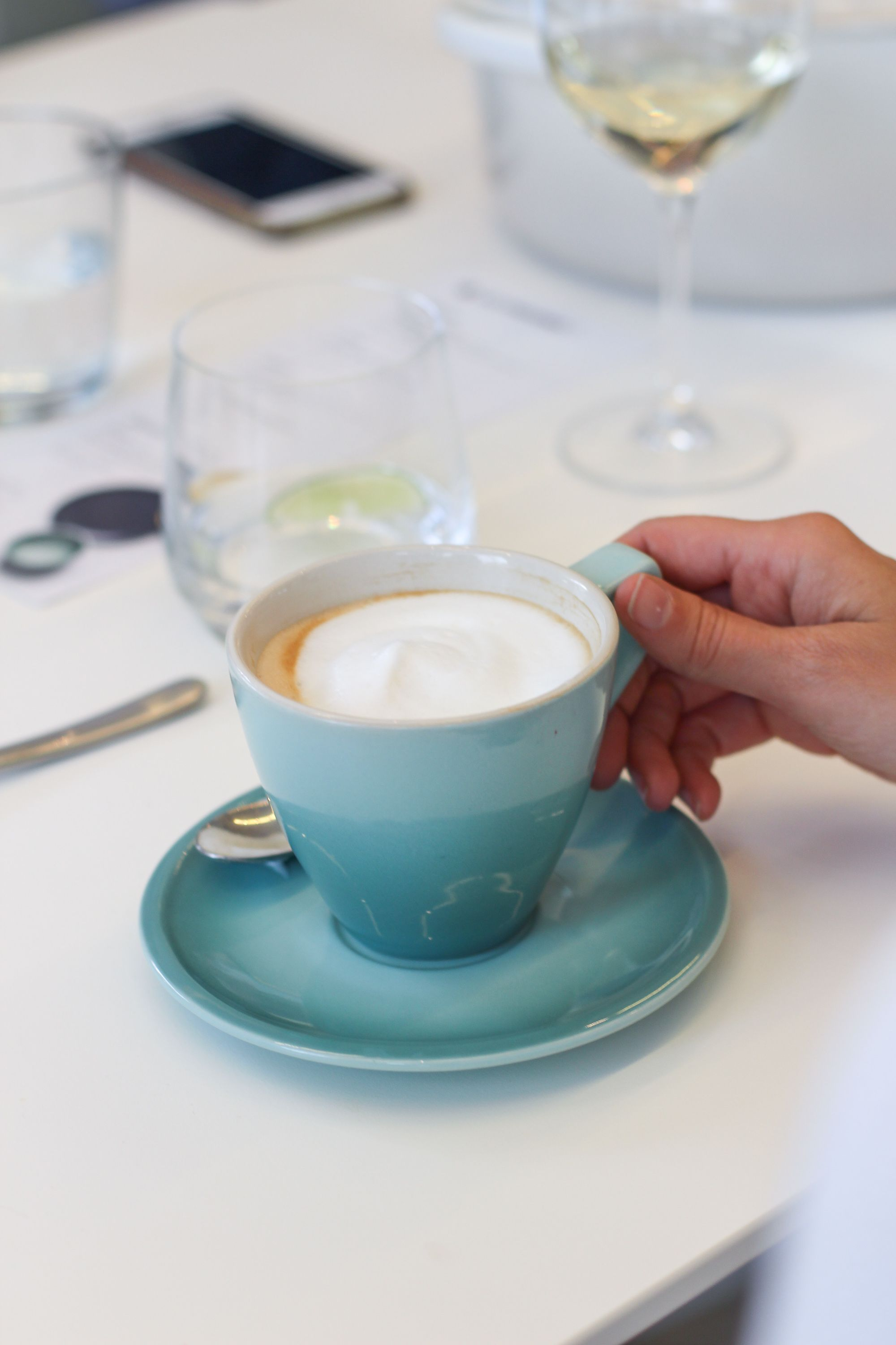 Le Creuset Canada - Minimalist Dinnerware Collection cappuccino cup and saucer | Chu on This  #MinimalistDinneware #LeCreuset #LeCreusetLove #LeCreusetCanada