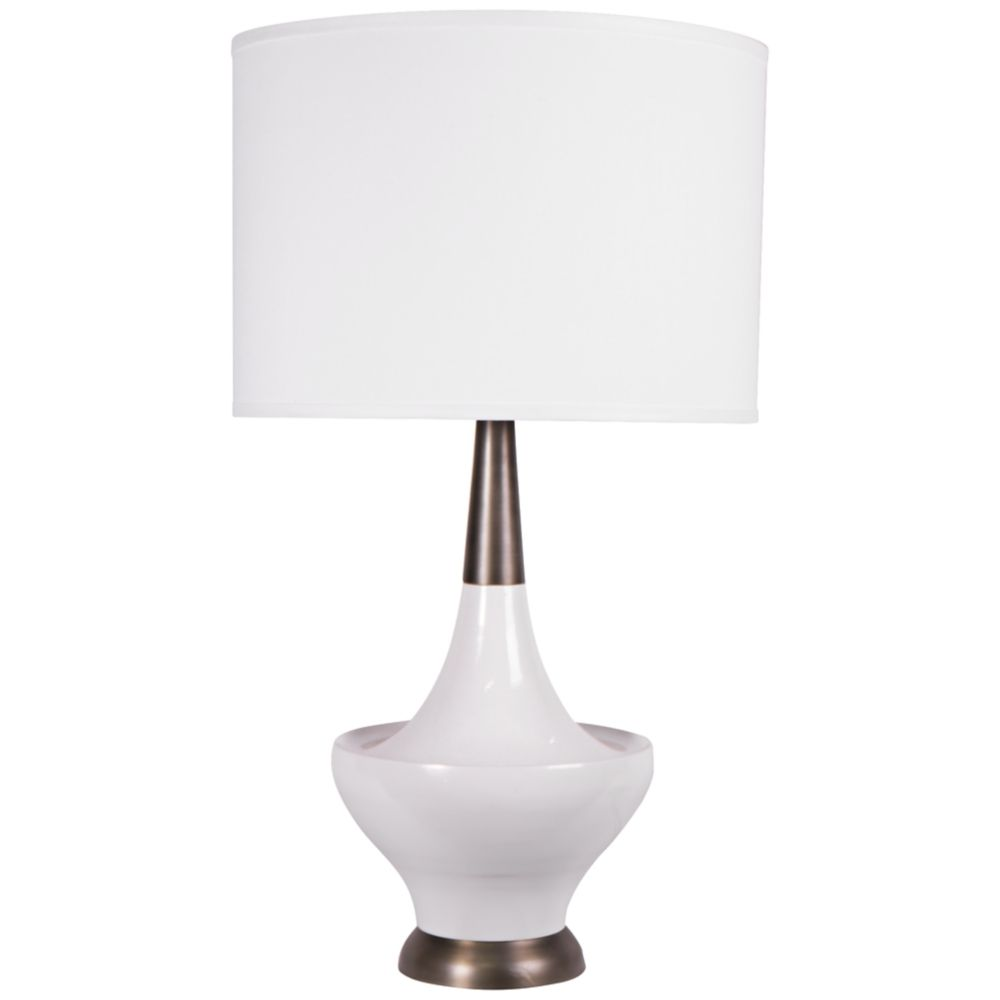 Jamie young hialeah white cast metal table lamp style 4j841 aloadofball Gallery