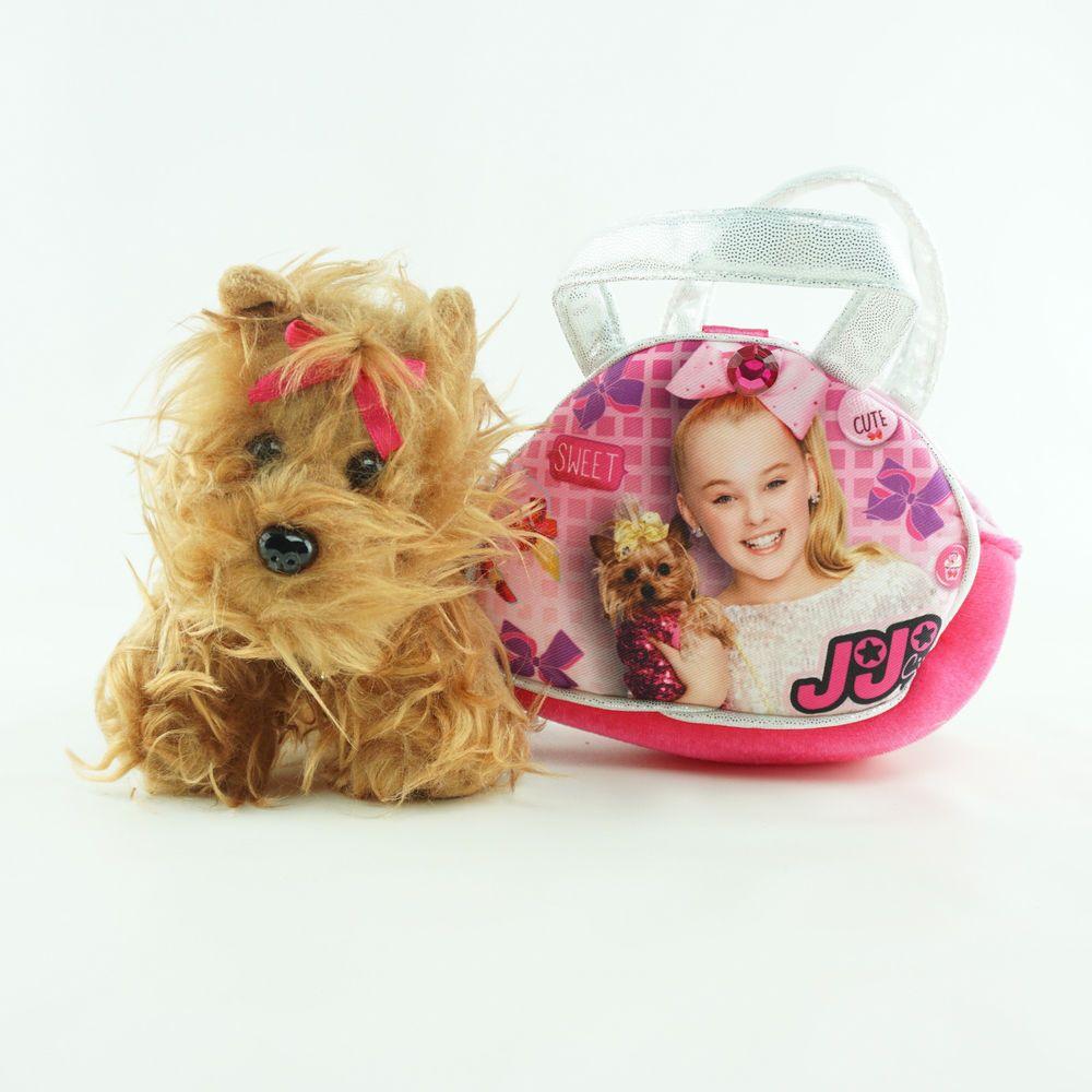 Jojo Siwa Stuffed Toy Dog Bowbow On Little Handbag Purse Pet Pal