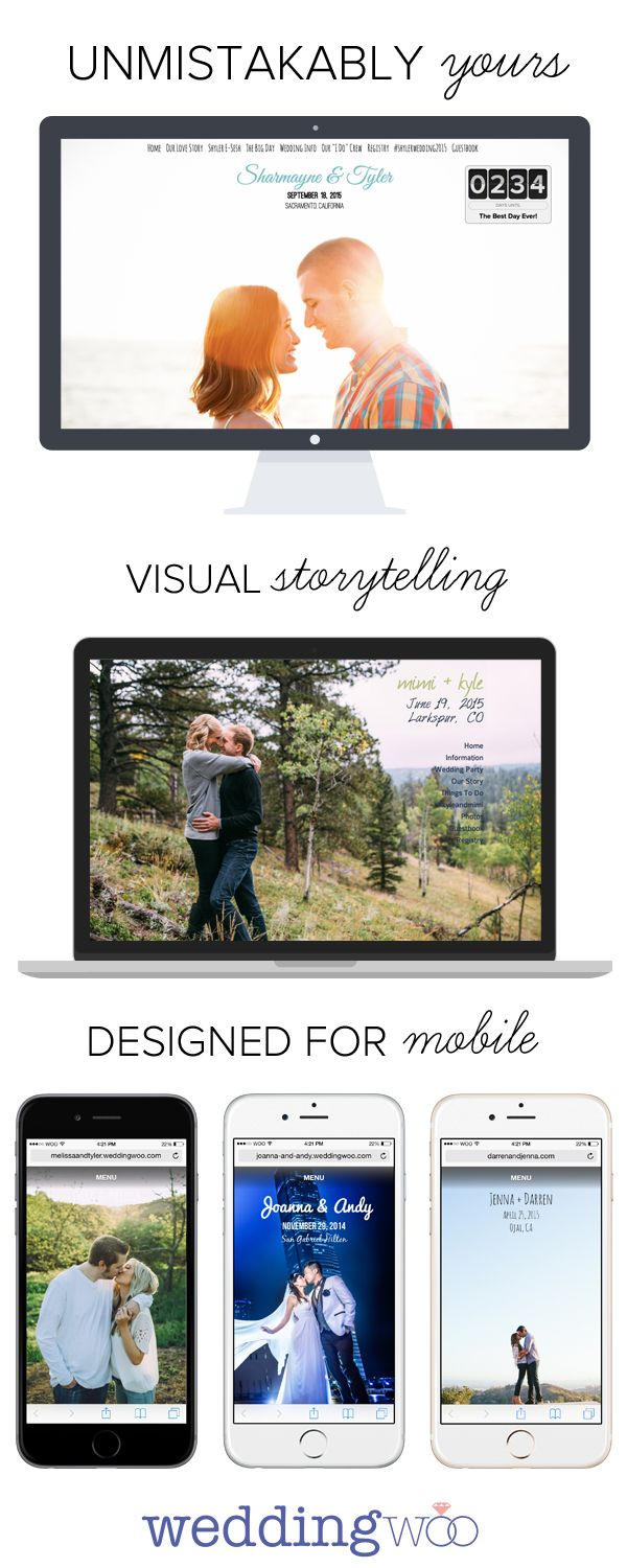 Weddingwoo Build A Beautiful Wedding Website That You Ll Actually Show Off Http