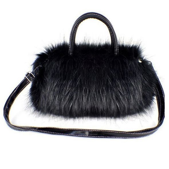 903716cabada Ladies Handbag Faux Fur Satchel Clutch Bag Wallet