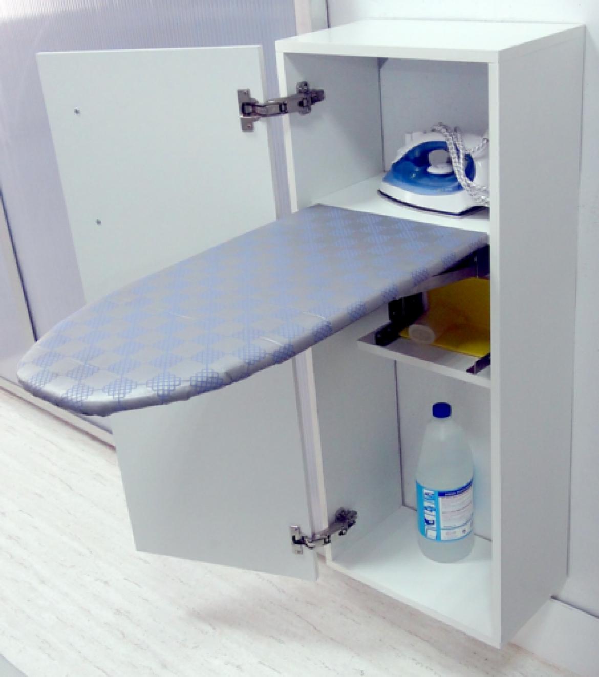 Mueble para planchar en viviendas con poco espacio ideas for Mueble tabla planchar