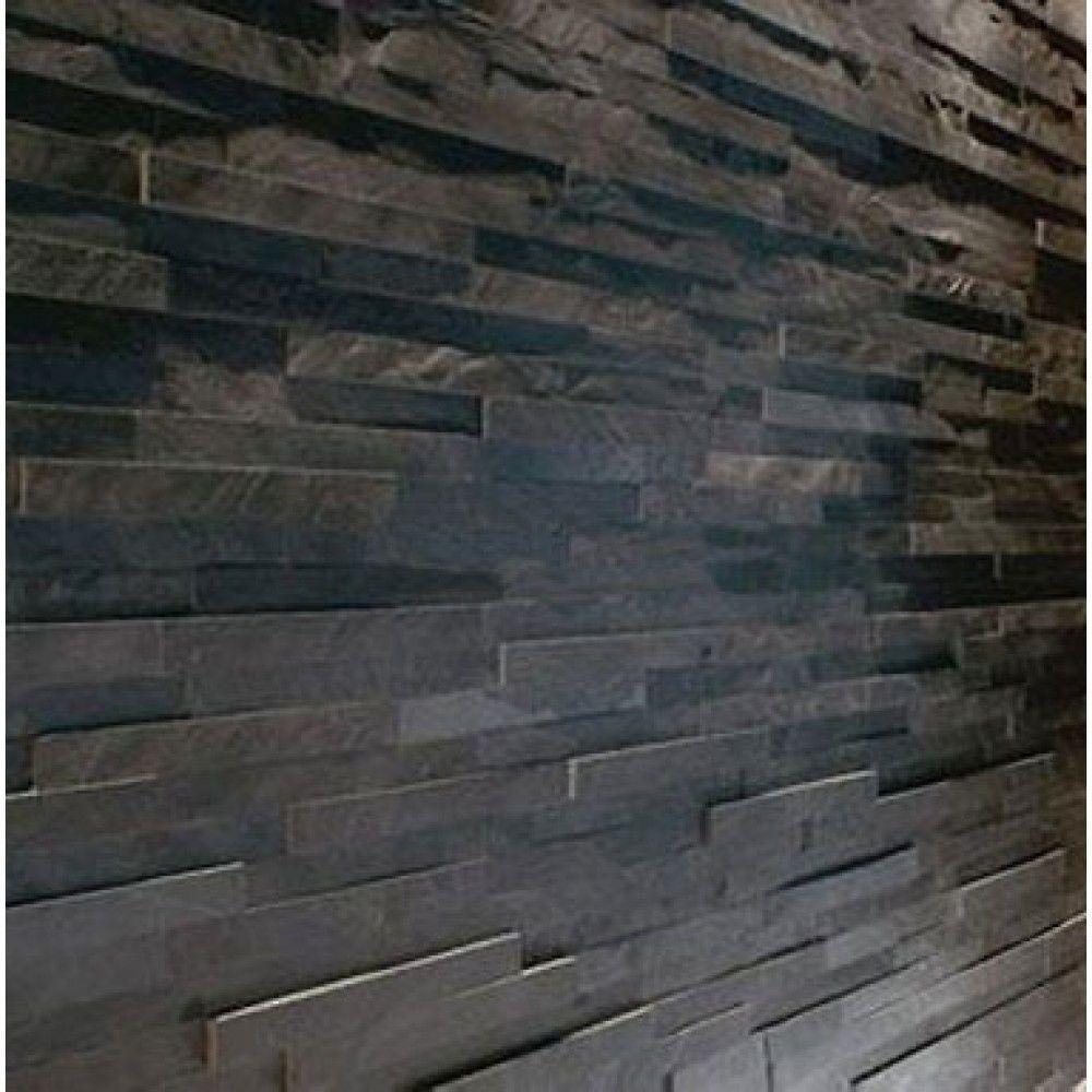 Splitface black slate mosaic tiles sample z tile 3d stone splitface black slate mosaic tiles sample z tile 3d stone cladding wall ebay dailygadgetfo Image collections