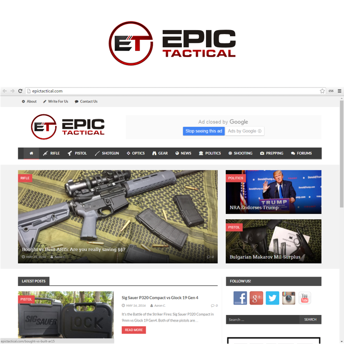 Logo for a Firearms Related Blog by kiplie*