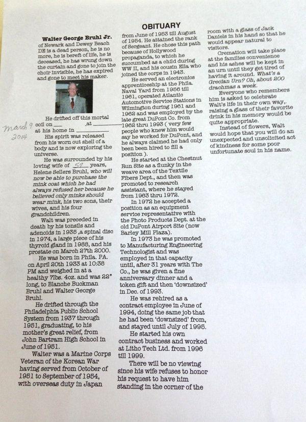 Delaware Grandfather\u0027s Wise, Hilarious Obituary Goes Viral - Gotta