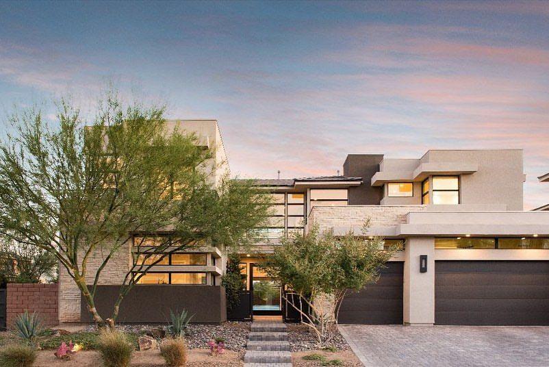 Spectacular Modern Home Like Jeffvegasrealty Lasvegashomes In 2020 House Styles Modern House Las Vegas Homes