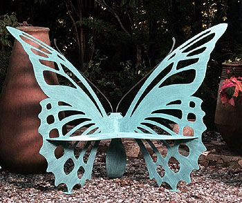 Awesome Butterfly Bench Available In Three Sizes And Two Colors Verdi Or  Periwinkle. Hand Crafted