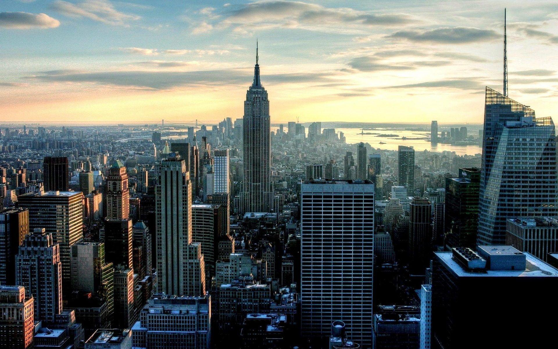ciudad rascacielos edificios metrpolis cielo
