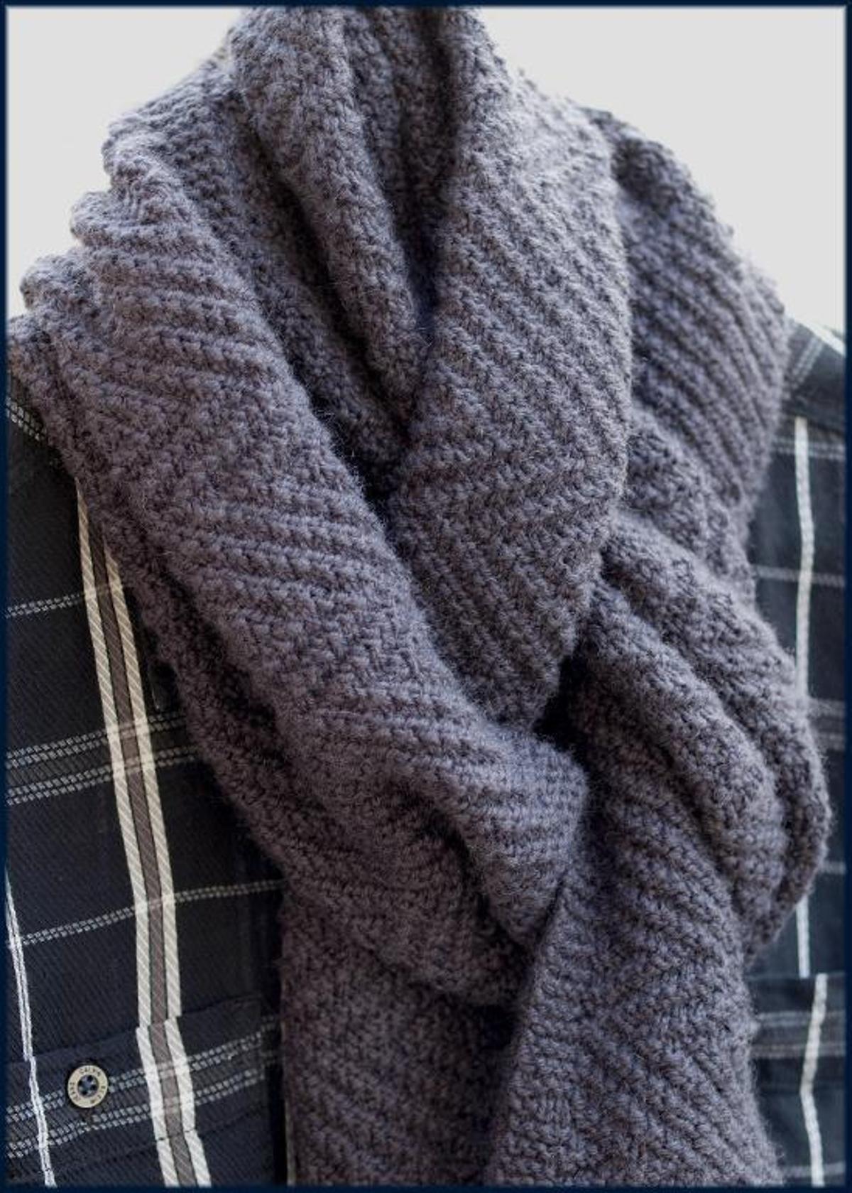 lamberhurst scarf mens scarf reversible knitting
