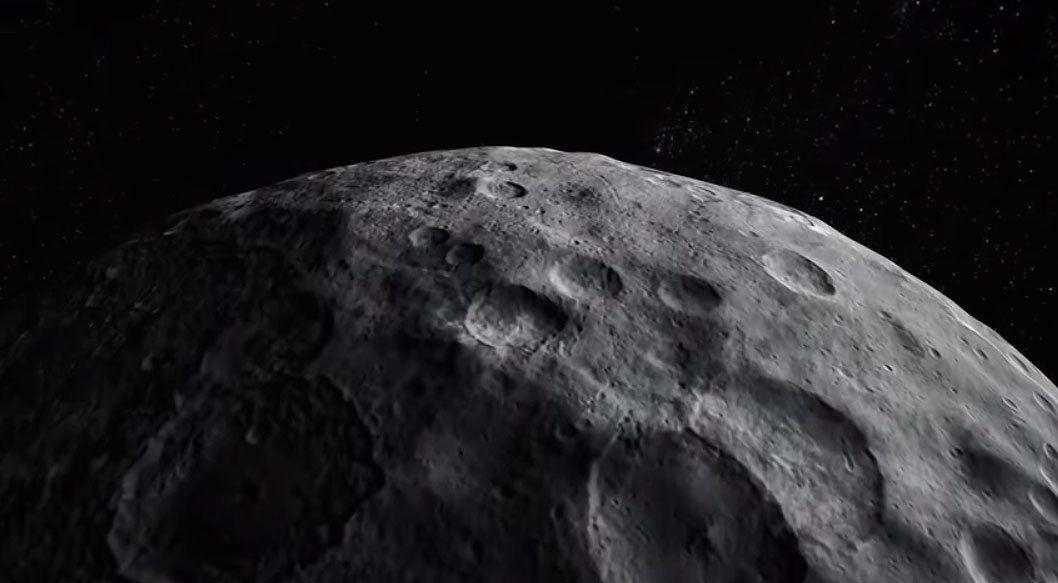 Voar sobre o planeta anano Ceres