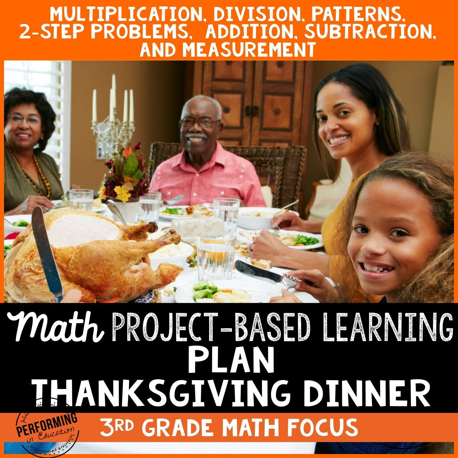 3rd Grade Thanksgiving Math Project Based Learning