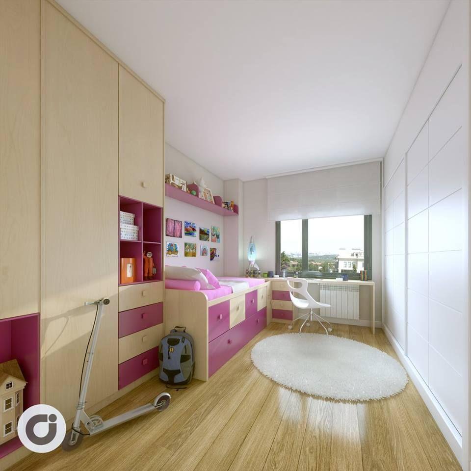 La habitación reservada a los más pequeños de la casa, proporciona amplios espacios para decorar al gusto.