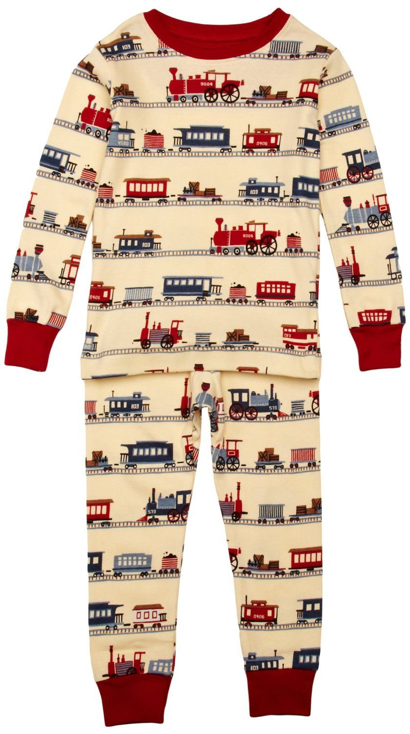 f777c317e Hatley Boys Train Pajama Set