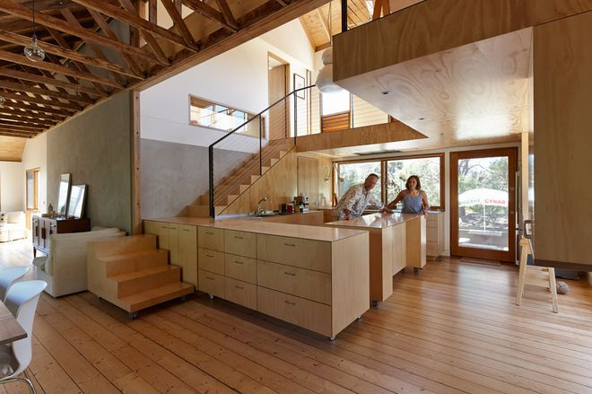 Kitchen With Moveable Cabinets And Moveable Stairsu003e Contemporary By Andrew  Simpson Architects