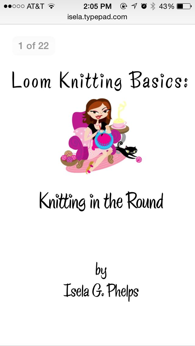 Loom Knitting Basics Knitting In The Round Contains Different