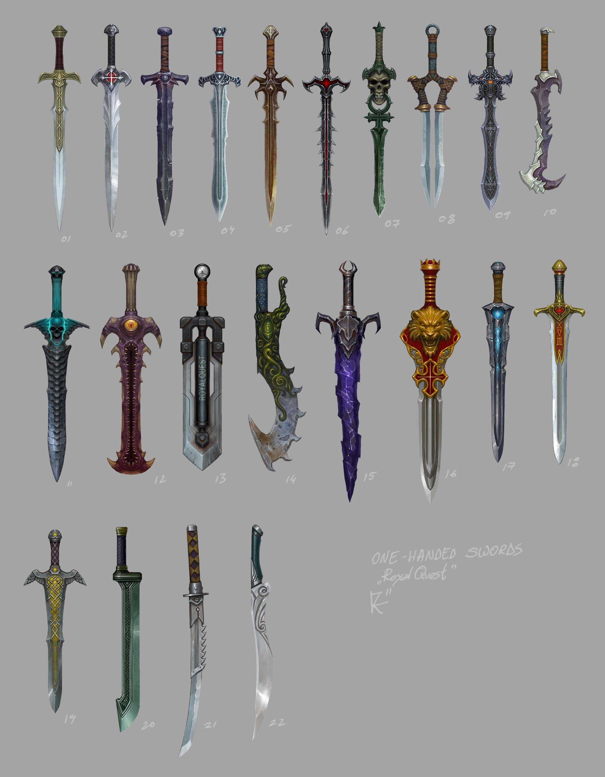 1-handed swords by Kozivara on deviantART   Swords ...