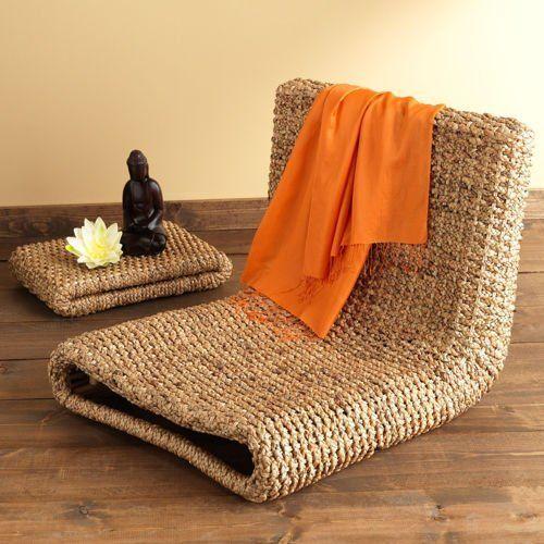 Amazon Com Gaiam Water Hyacinth Meditation Chair Yoga