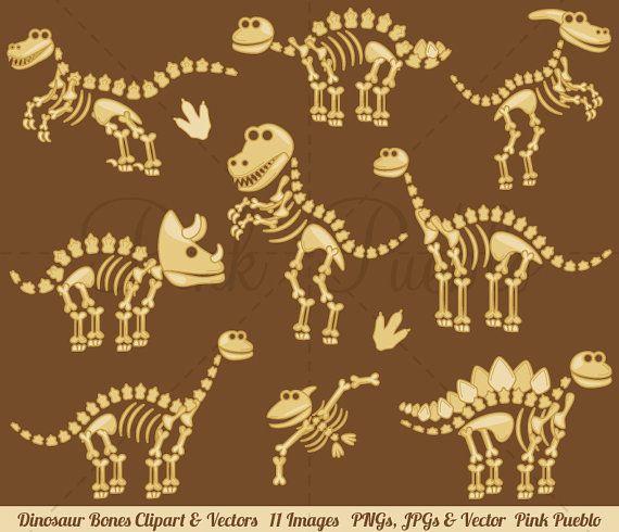 Dinosaur Bones Clipart Dinosaur Clip Art Dinosaur Clipart Etsy In 2021 Dinosaur Clip Art Clip Art Dinosaur Fossils