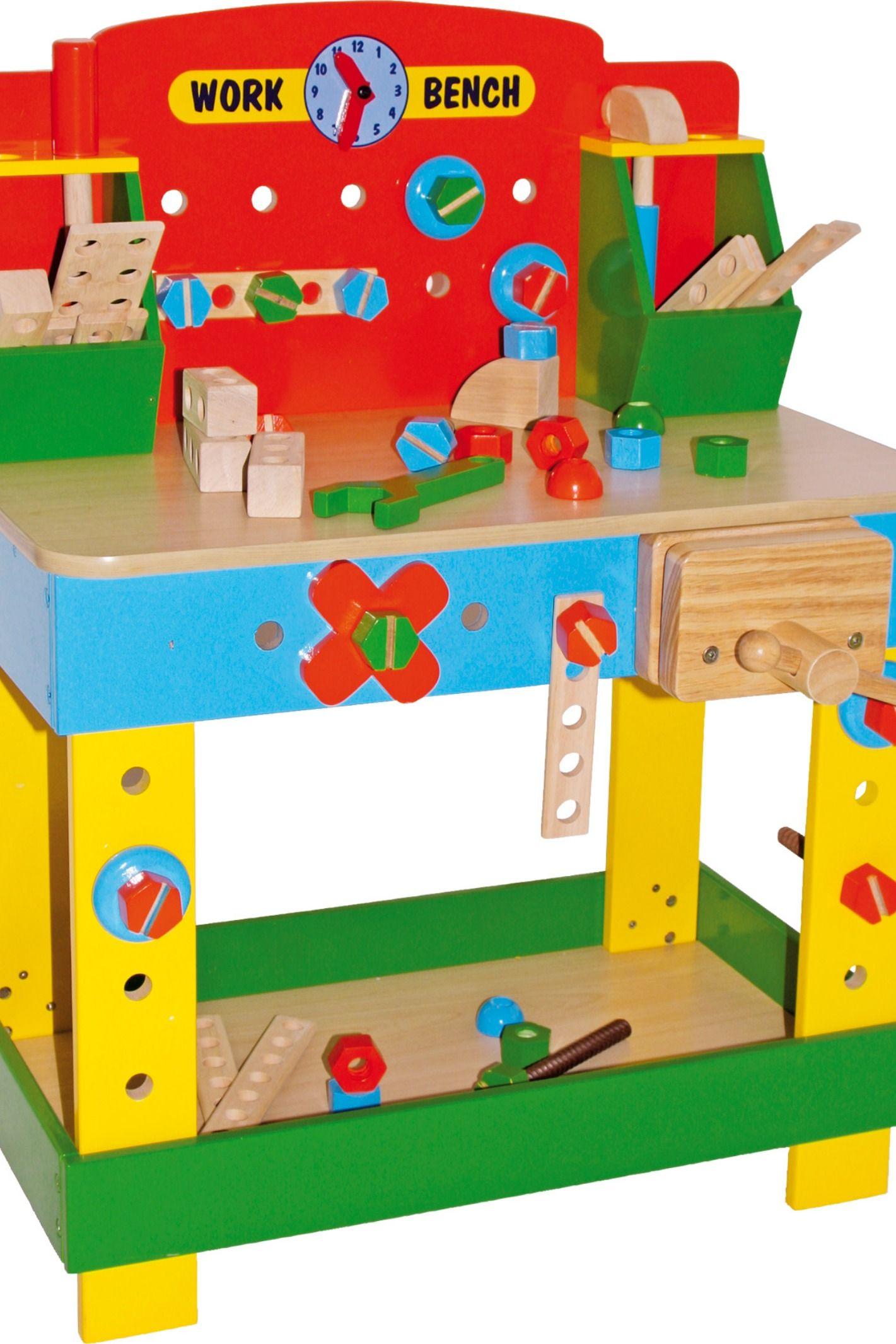 """Spielzeug Holz Werkzeuge Werkbank """"Tobi"""" mit Werkzeugen ab ..."""