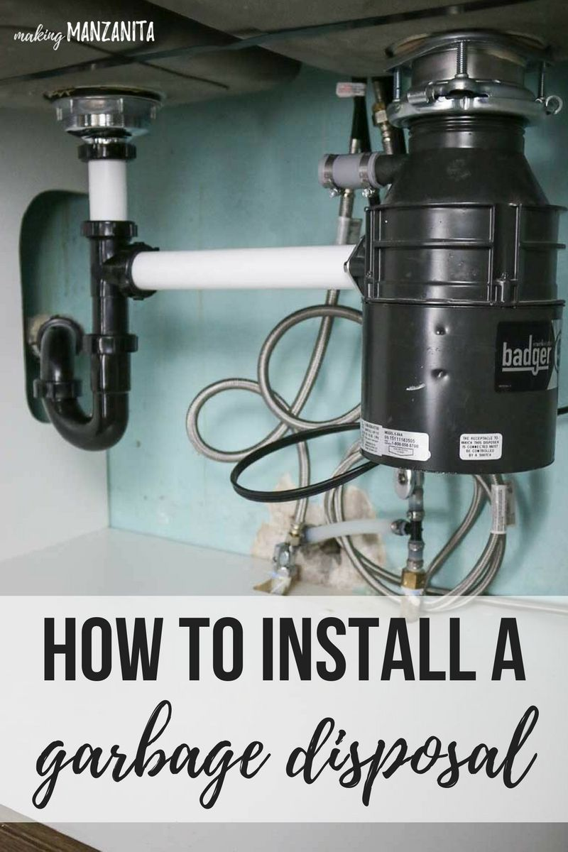 How to install a badger garbage disposal garbage