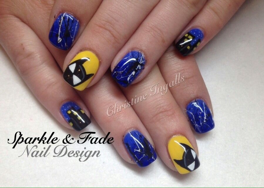 Hand painted Batman gel nails - Done by Christine Ingalls of Sparkle ...